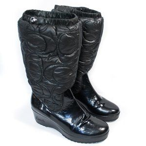 Coach | Cantina Black Winter Wedge Boots | 8B
